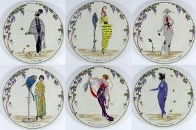 6pc VILLEROY & BOCH DESIGN 1900 SALAD PLATES