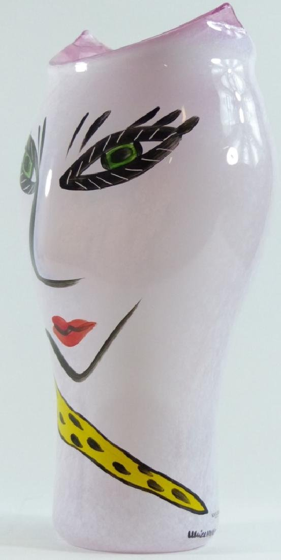 ULRICA HYDMAN-VALLIEN FOR KOSTA BODA FACE VASE - 8
