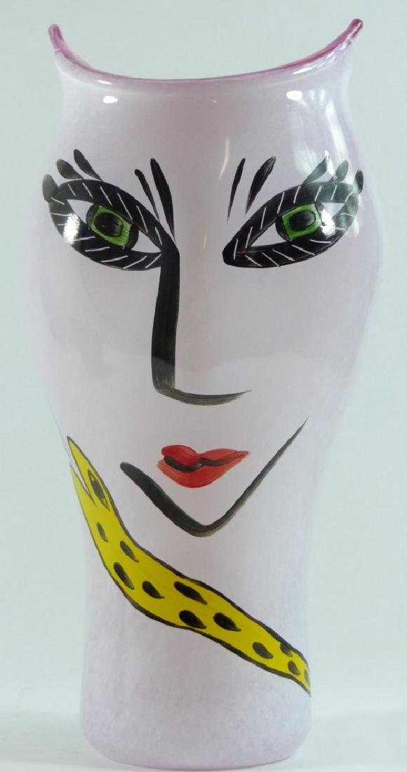 ULRICA HYDMAN-VALLIEN FOR KOSTA BODA FACE VASE - 9