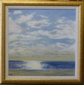 LEONID GERVITS OIL PAINTING ON CANVAS OF SEASCAPE