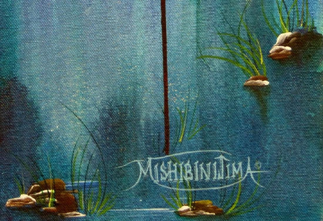 JAMES MISHIBINIJIMA ACRYLIC PAINTING ON CANVAS - 3