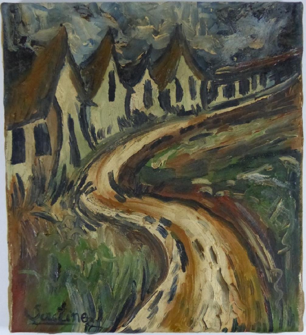 CHAIM SOUTINE OIL PAINTING ON CANVAS OF LANDSCAPE