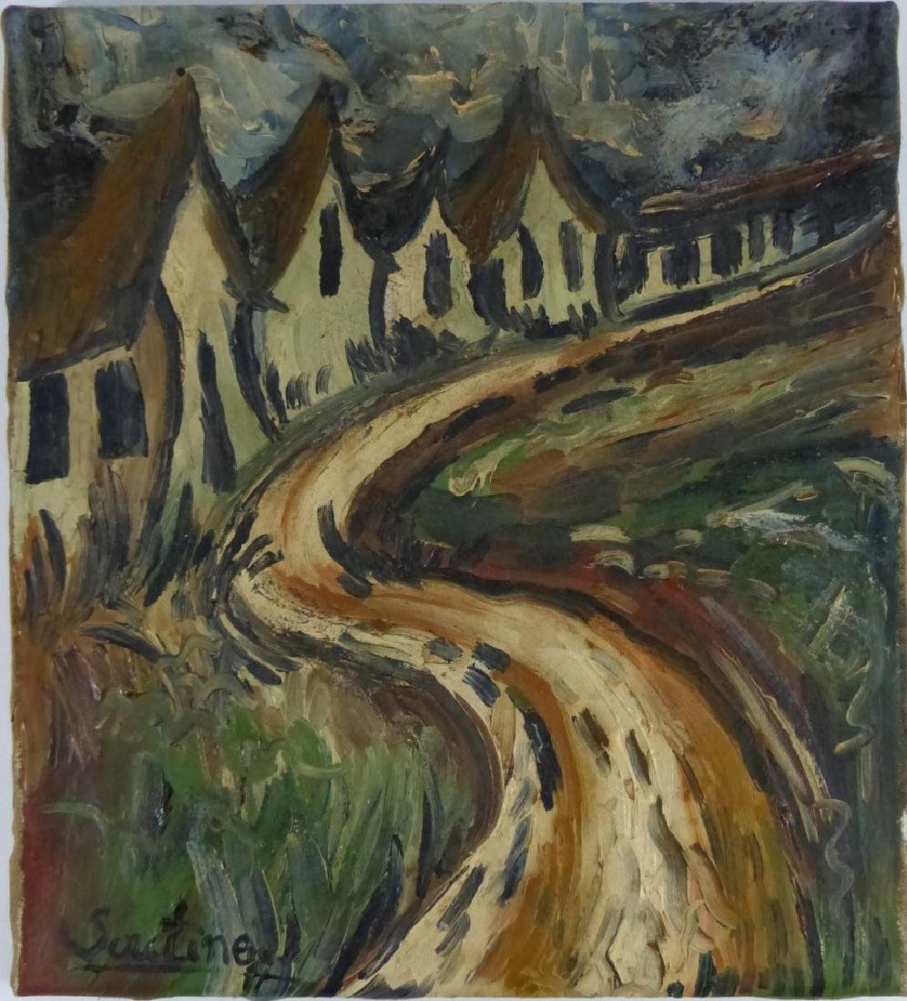 CHAIM SOUTINE OIL PAINTING ON CANVAS OF LANDSCAPE - 2