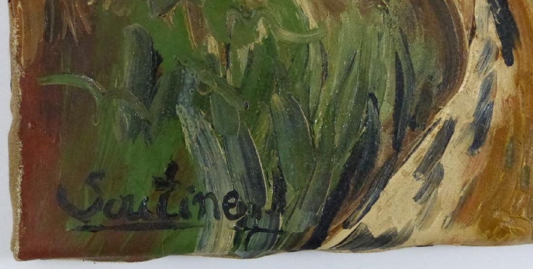 CHAIM SOUTINE OIL PAINTING ON CANVAS OF LANDSCAPE - 3