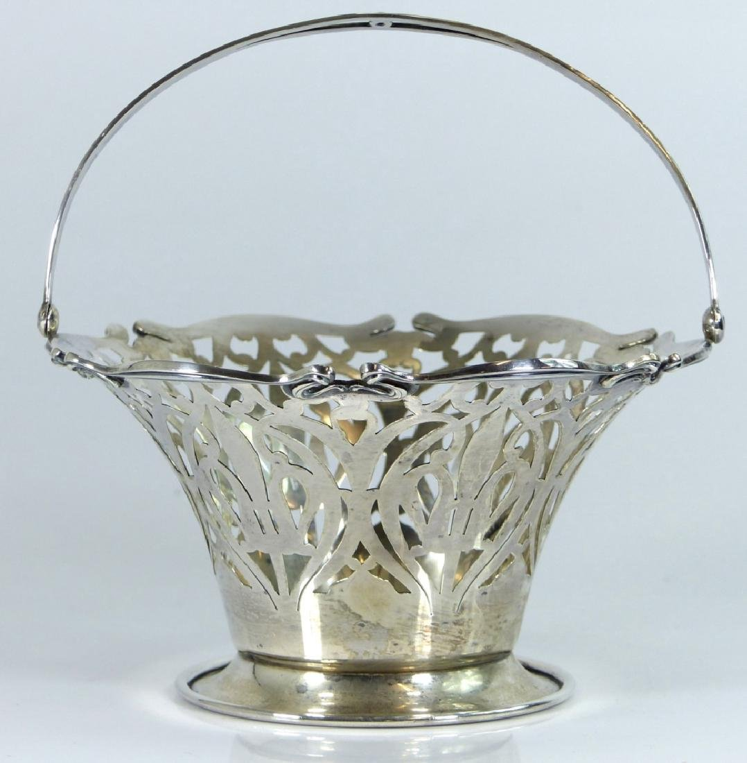 SMITH PATTERSON STERLING SILVER RETICULATED BASKET