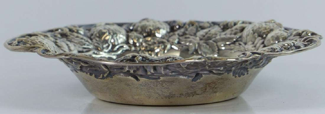 MAUSER ANTIQUE STERLING SILVER STRAWBERRY BOWL - 2