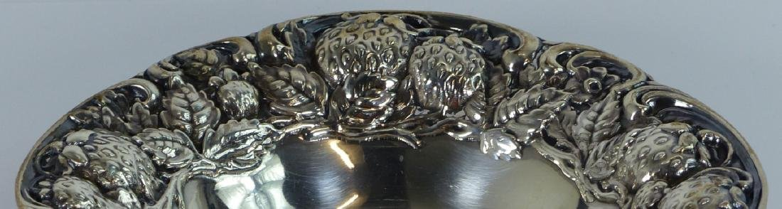 MAUSER ANTIQUE STERLING SILVER STRAWBERRY BOWL - 4