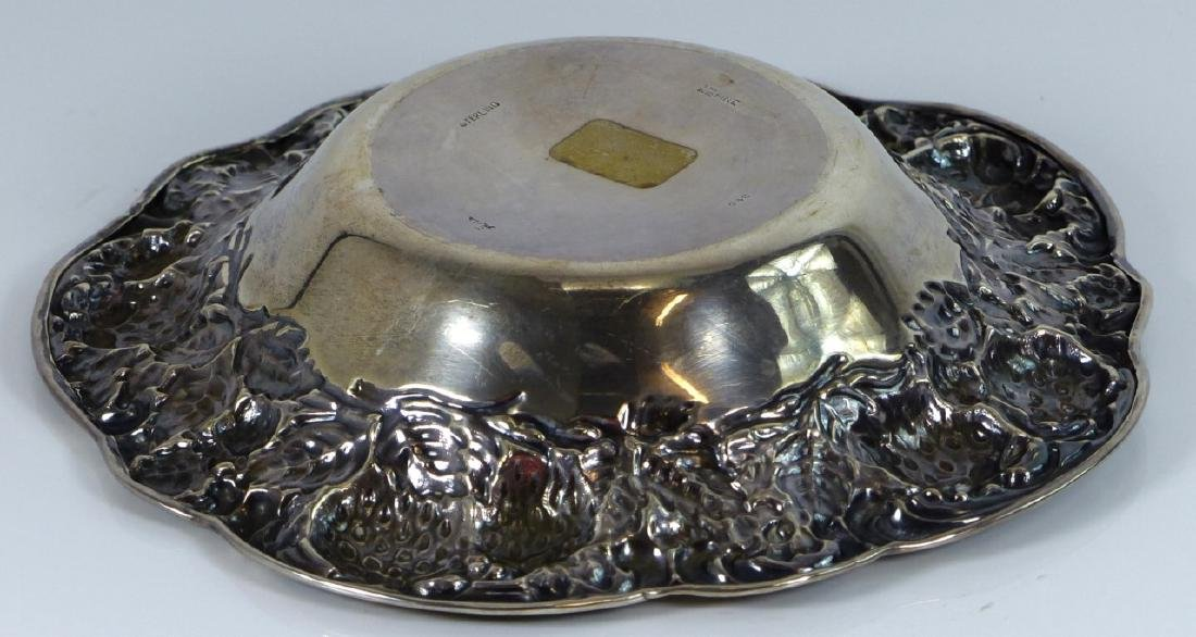 MAUSER ANTIQUE STERLING SILVER STRAWBERRY BOWL - 6