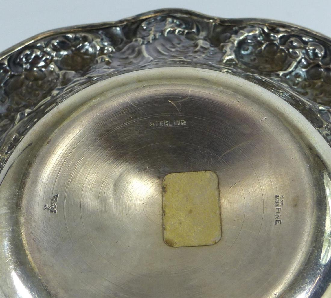 MAUSER ANTIQUE STERLING SILVER STRAWBERRY BOWL - 7