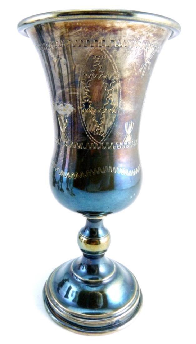 6pc STERLING SILVER JUDAICA KIDDUSH CUPS - 6