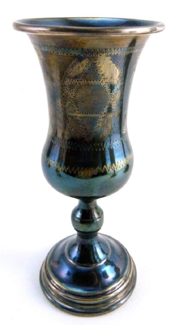 6pc STERLING SILVER JUDAICA KIDDUSH CUPS - 8