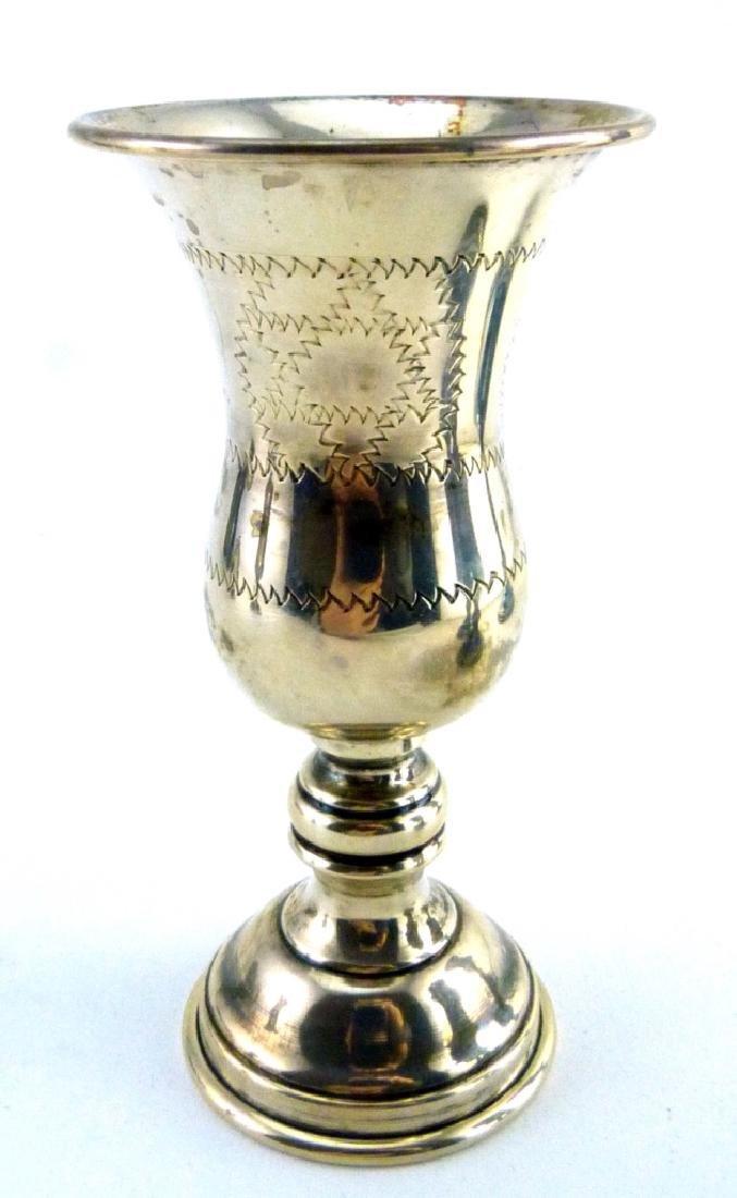 6pc STERLING SILVER JUDAICA KIDDUSH CUPS - 9