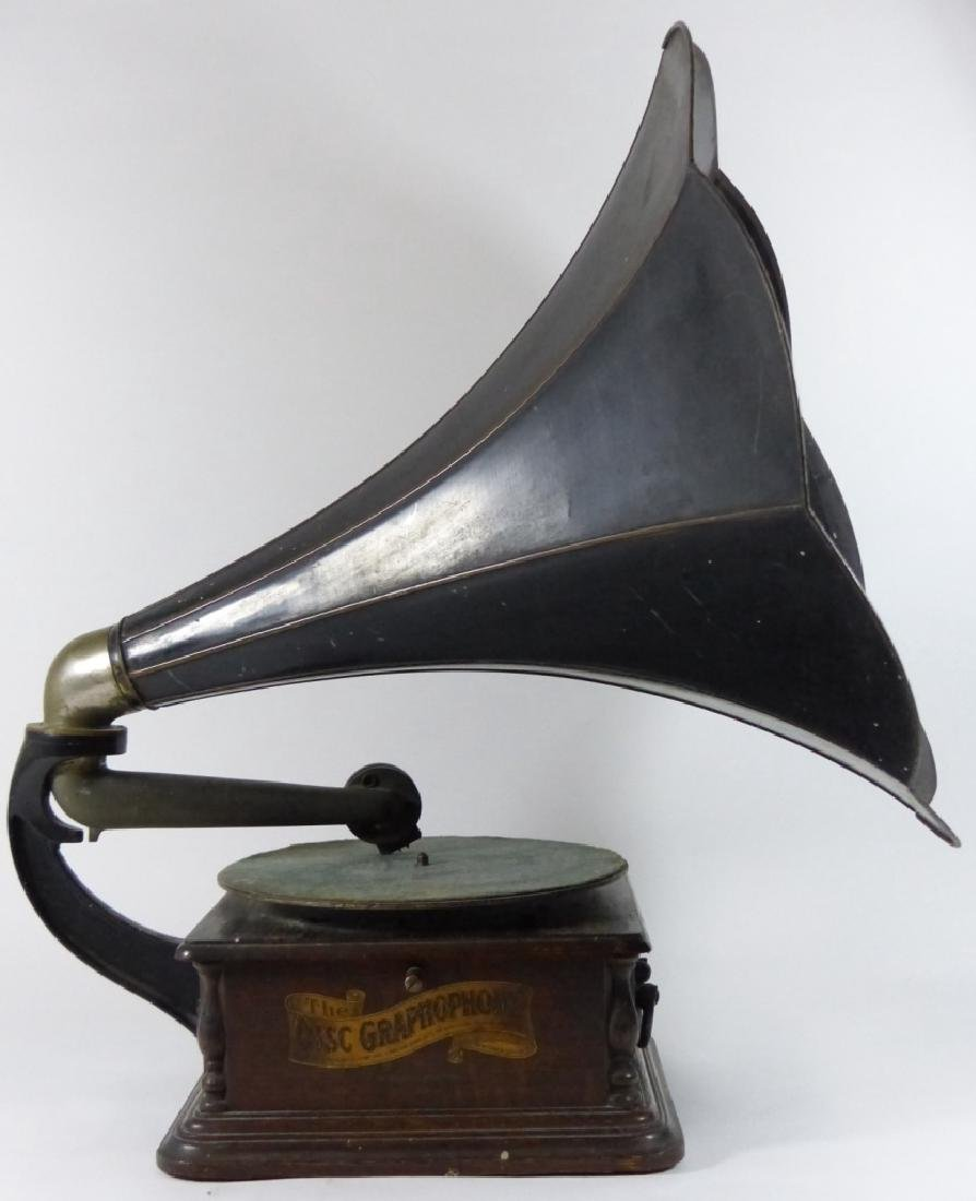 ANTIQUE COLUMBIA DISC GRAPHOPHONE