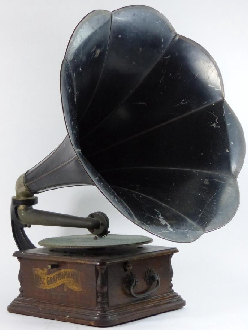 ANTIQUE COLUMBIA DISC GRAPHOPHONE - 8