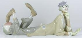 LLADRO RECLINING CLOWN PORCELAIN FIGURE #4618
