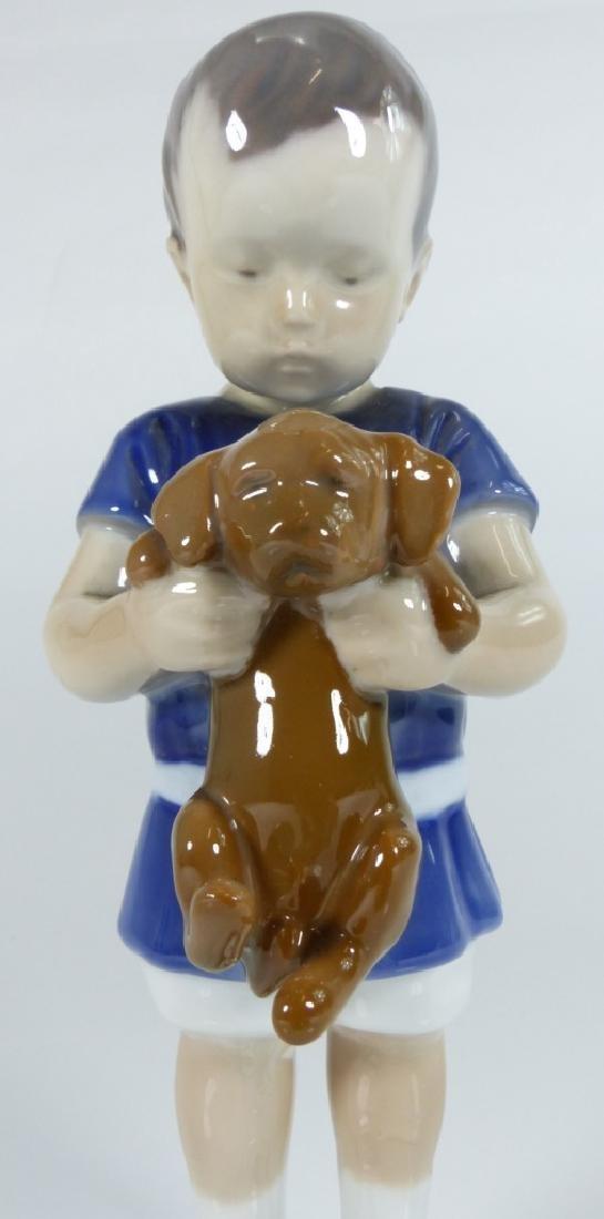 BING & GRONDAHL COPENHAGEN PORCELAIN BOY w DOG - 2