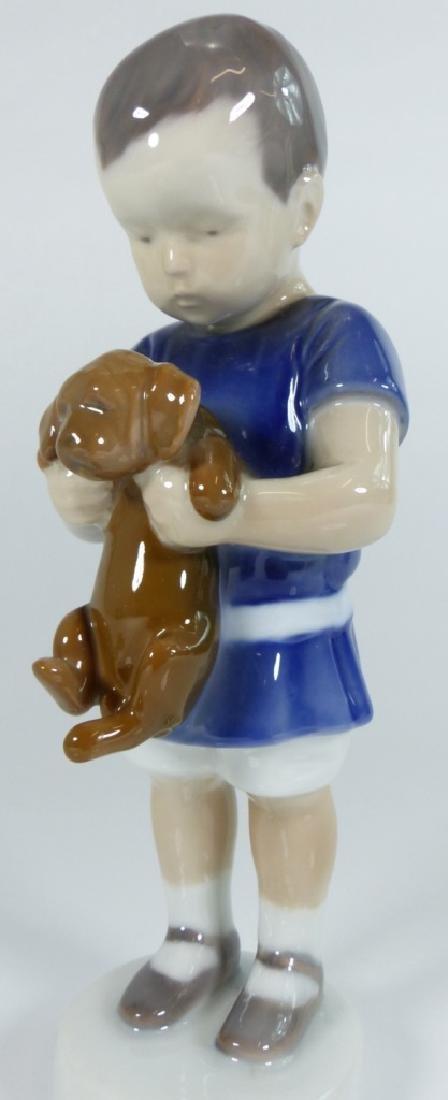 BING & GRONDAHL COPENHAGEN PORCELAIN BOY w DOG - 6