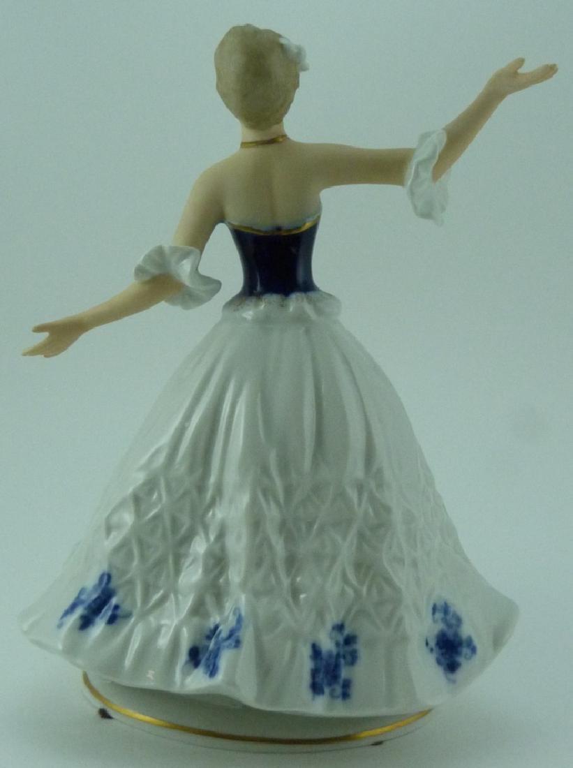 WALLENDORF PORCELAIN DANCER FIGURINE - 4