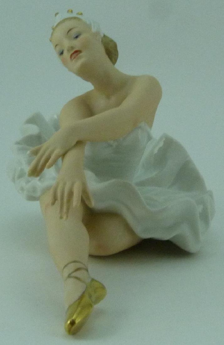 WALLENDORF PORCELAIN DANCER FIGURINE - 3