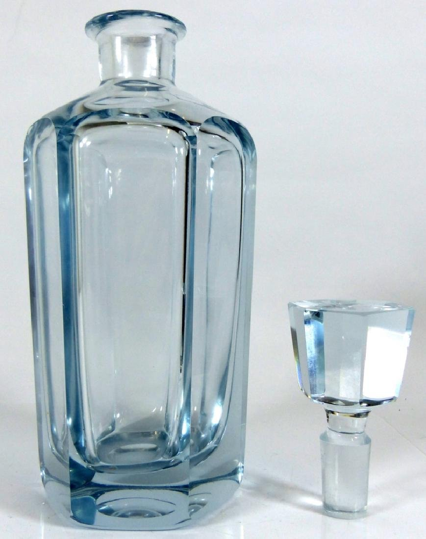 SWEDISH CRYSTAL DECANTER & STOPPER SIGNED - 5