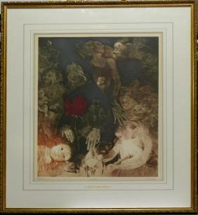 G.H. ROTHE 'YOUTH' MEZZOTINT SIGNED 37/150