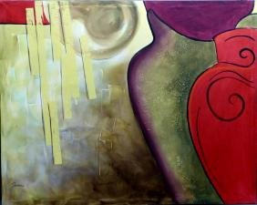 JARON LARGE MODERN ABSTRACT OIL PAINTING CANVAS