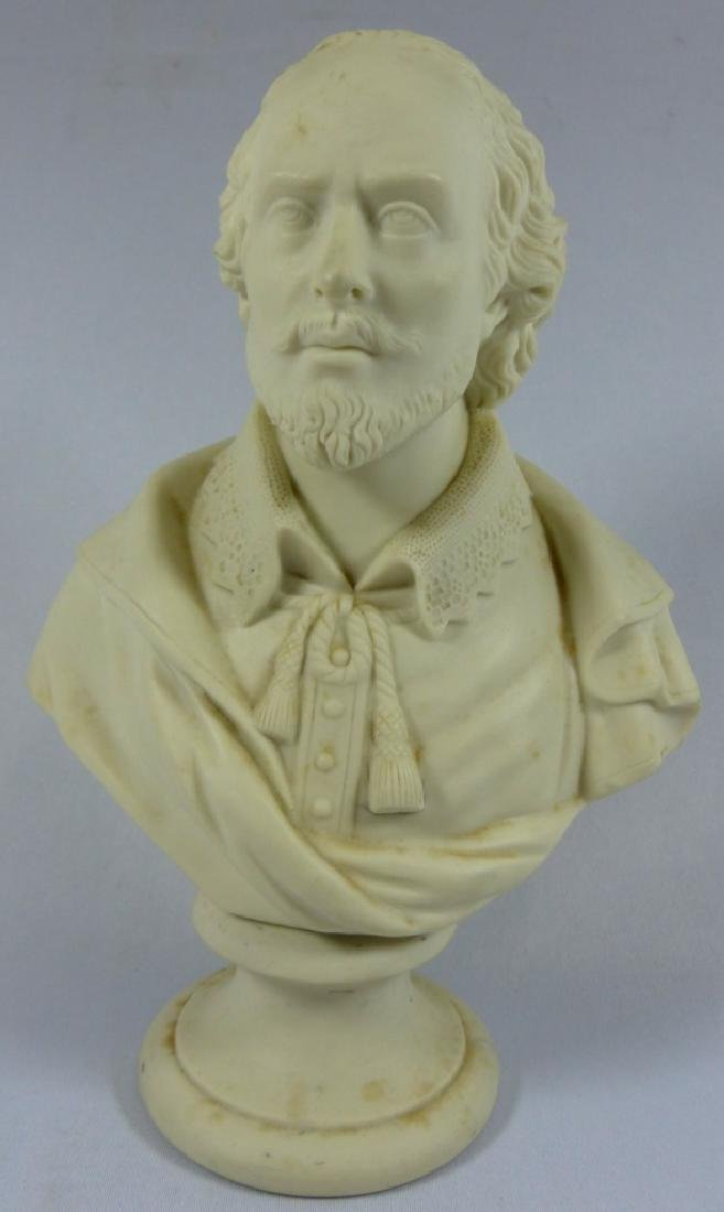 COPELAND PARIANWARE BUST OF SHAKESPEARE
