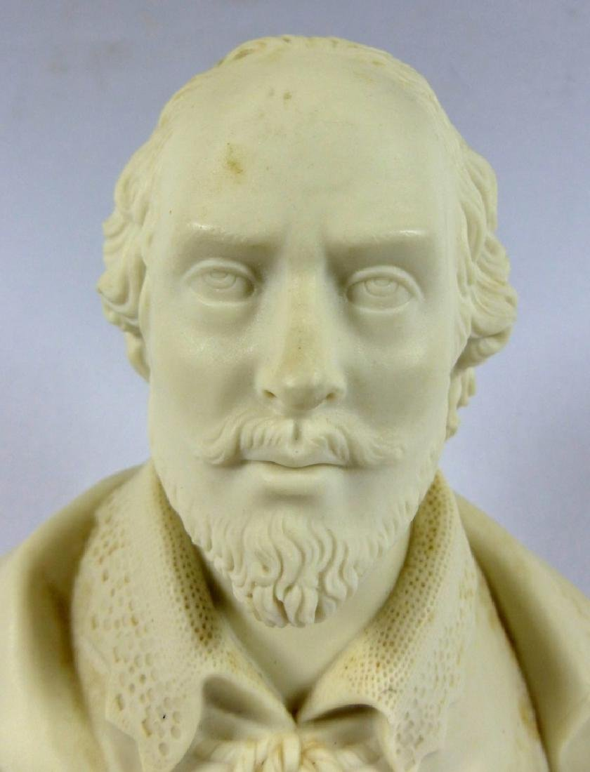 COPELAND PARIANWARE BUST OF SHAKESPEARE - 3