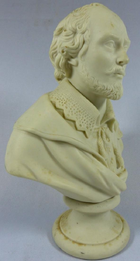 COPELAND PARIANWARE BUST OF SHAKESPEARE - 4