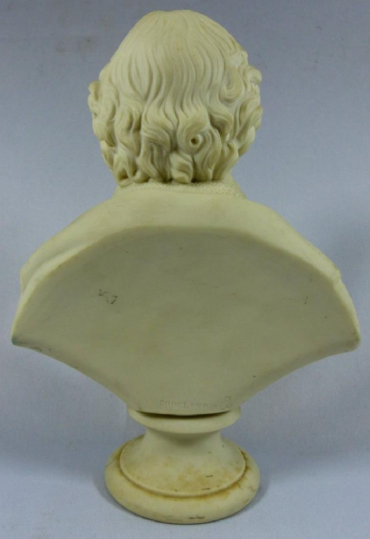 COPELAND PARIANWARE BUST OF SHAKESPEARE - 6
