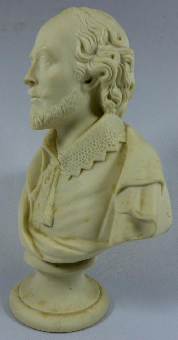 COPELAND PARIANWARE BUST OF SHAKESPEARE - 8