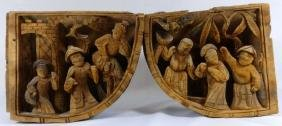 PR CHINESE ANTIQUE ARCHITECTURAL CORNER CARVINGS