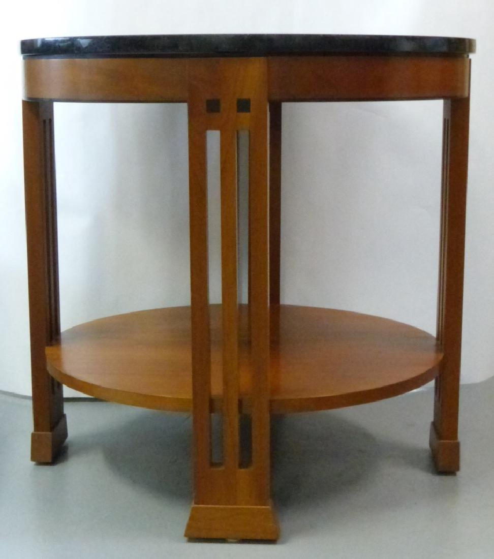 STICKLEY MARBLE TOP ROUND TABOURET TABLE