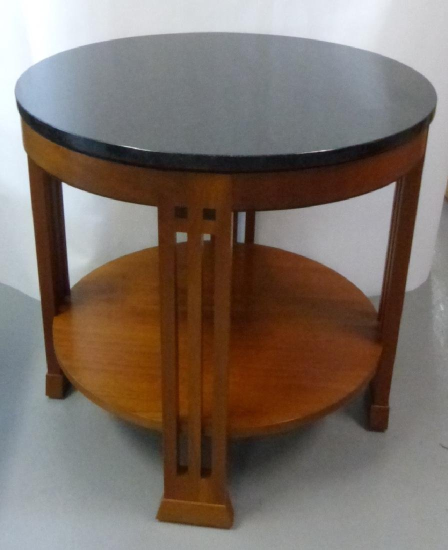 STICKLEY MARBLE TOP ROUND TABOURET TABLE - 3