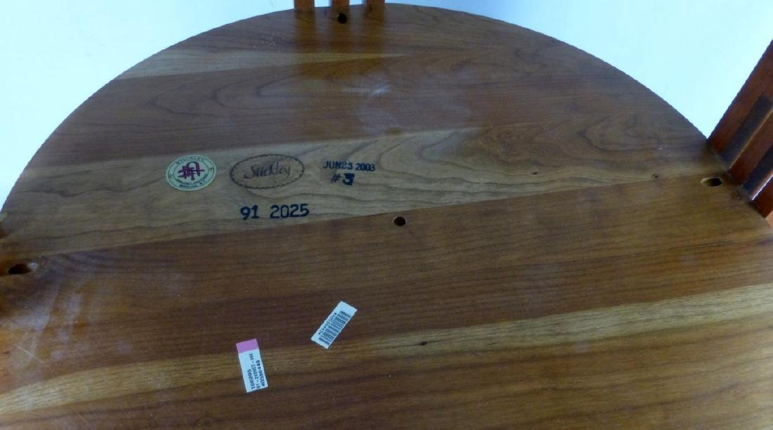 STICKLEY MARBLE TOP ROUND TABOURET TABLE - 4