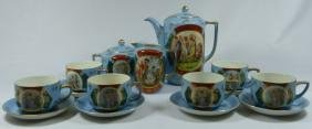 15pc ROYAL VIENNA PORCELAIN COFFEE SERVICE