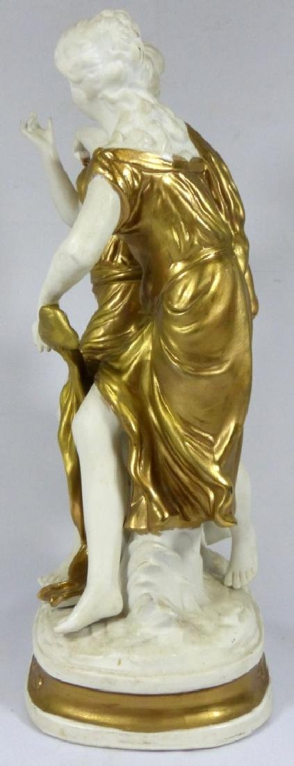 GERMAN BISQUE & GOLD GILT FIGURE OF TWO WOMEN - 5