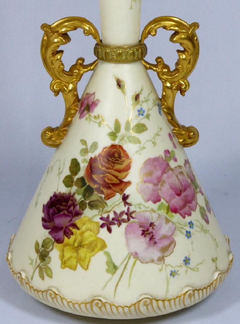 ROYAL WORCESTER PORCELAIN HANDLED VASE - 2