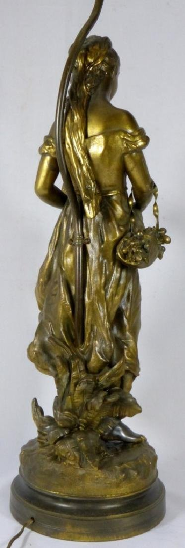 FRENCH BRONZE FIGURAL LAMP MOTHER & CHILD - 4