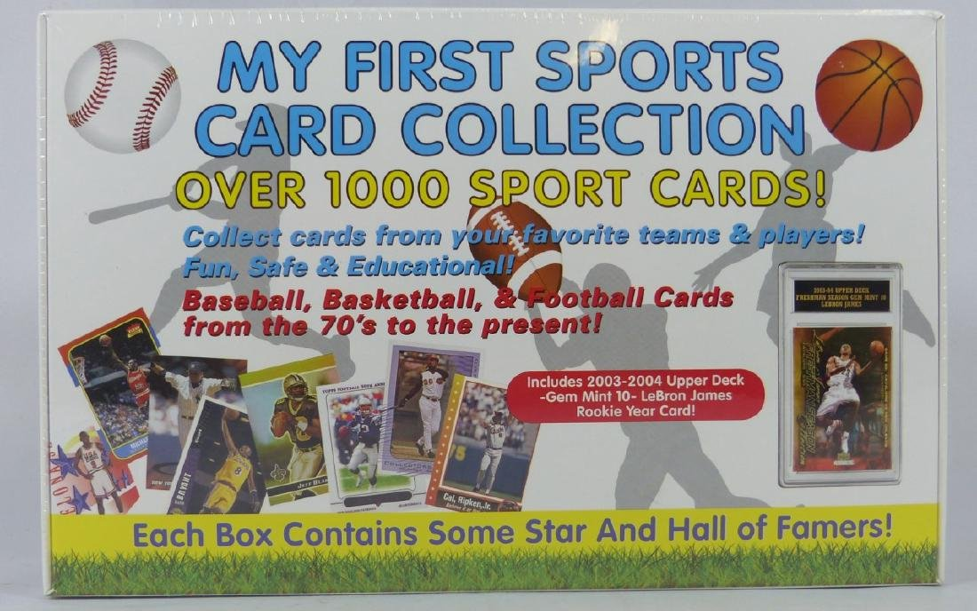 MY FIRST 1000 SPORTS CARD COLLECTION w LEBRON