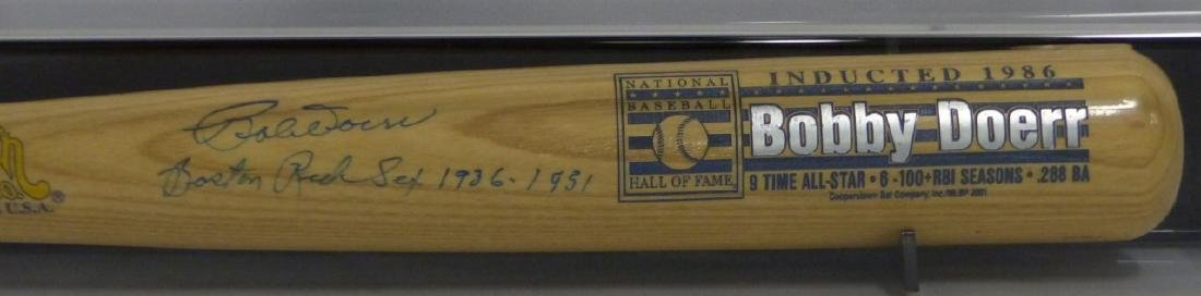 BOBBY DOERR SIGNED BAT w DISPLAY CASE - 2