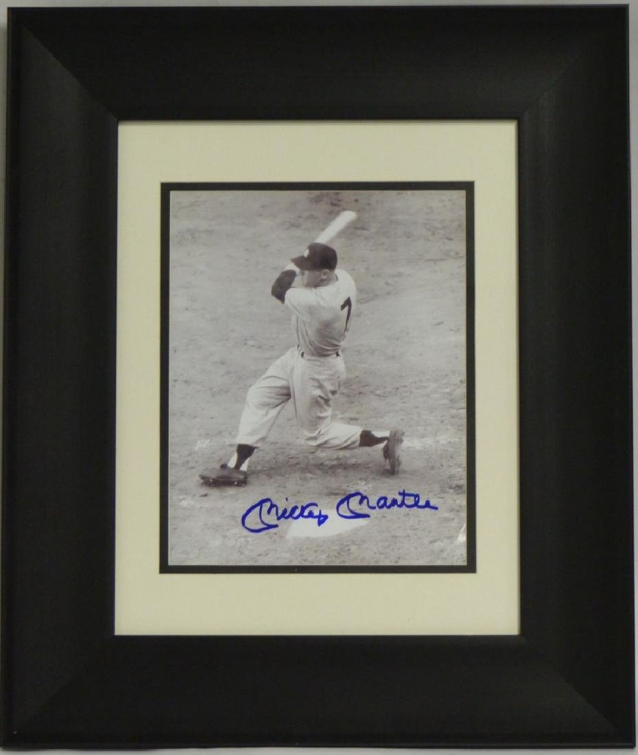 MICKEY MANTLE AUTOGRAPHED PHOTOGRAPH