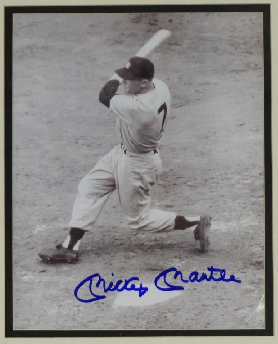MICKEY MANTLE AUTOGRAPHED PHOTOGRAPH - 2
