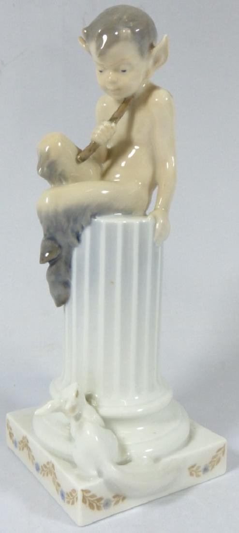 ROYAL COPENHAGEN FAUN w SQUIRREL PORCELAIN FIGURE - 2