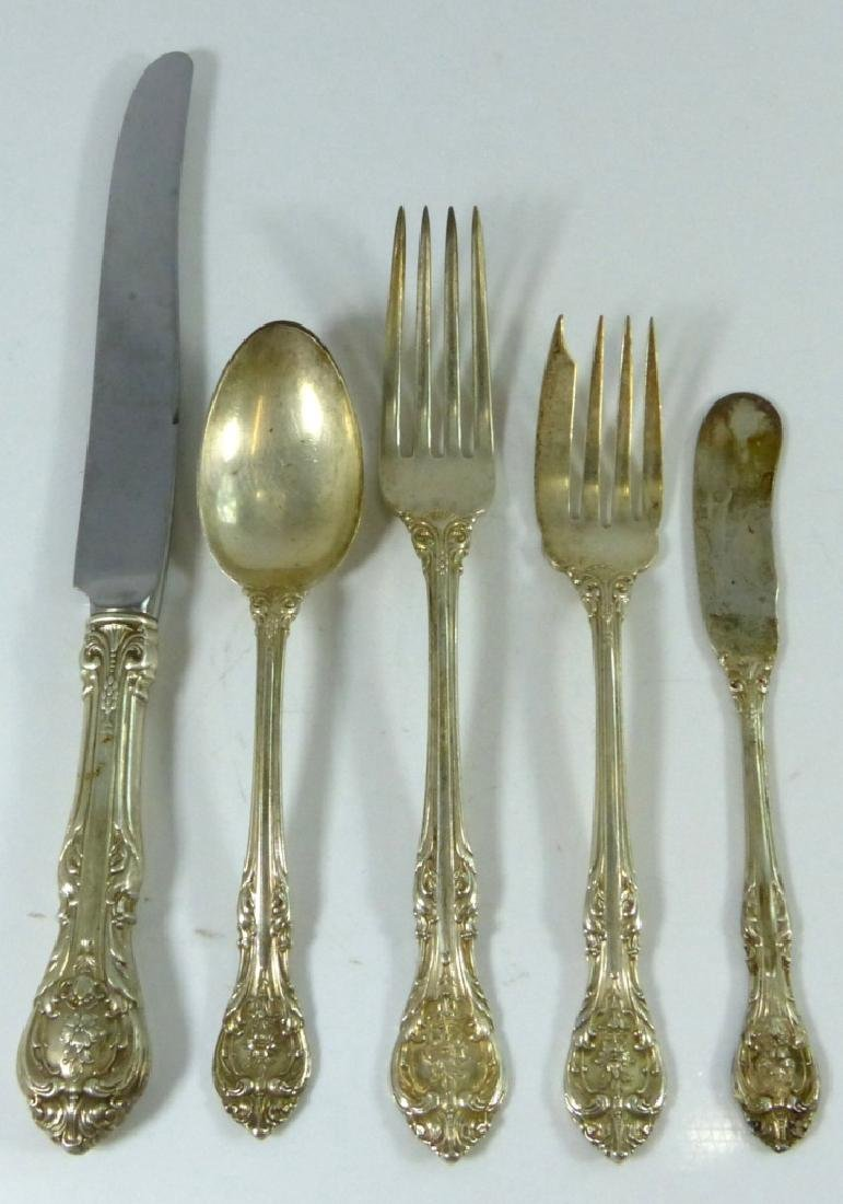 49pc GORHAM 'KING EDWARD' STERLING SILVER FLATWARE - 2