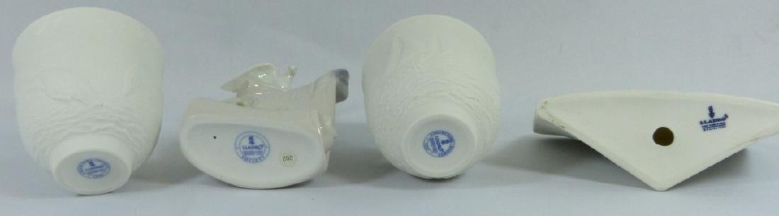 4pc LLADRO PORCELAIN CANDLE HOLDERS & PLAQUES - 7