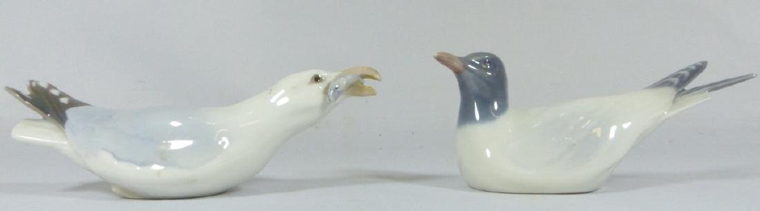 2pc ROYAL COPENHAGEN & B&G PORCELAIN BIRD FIGURES