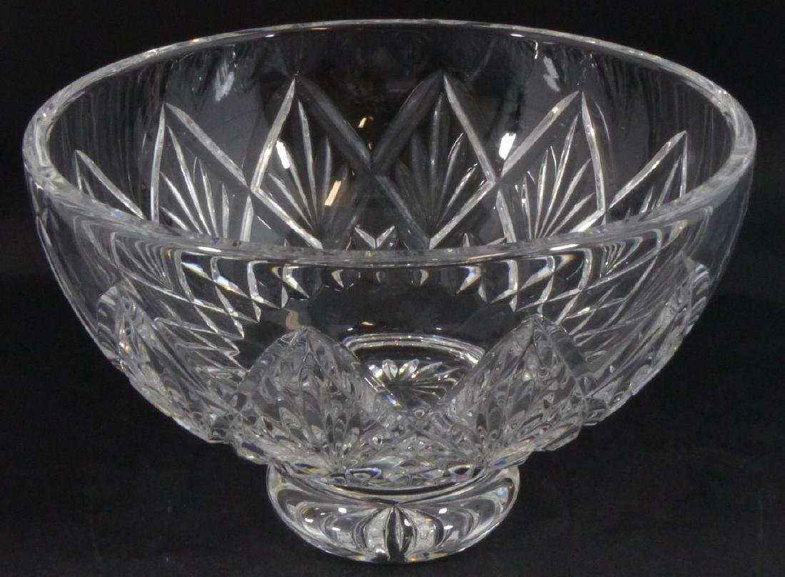 WATERFORD CUT CRYSTAL FOOTED BOWL - 2