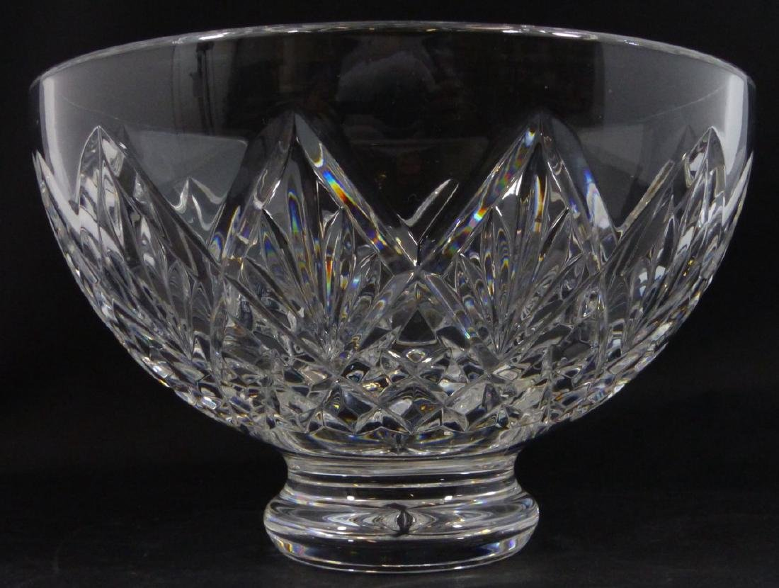 WATERFORD CUT CRYSTAL FOOTED BOWL - 4
