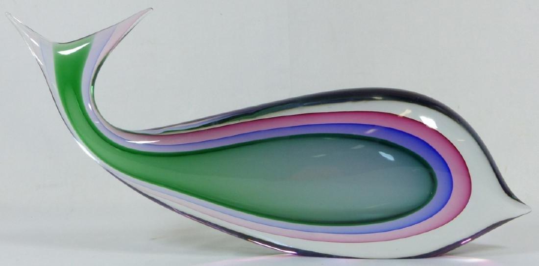 LUIGI ONESTO MURANO SOMMERSO ART GLASS FISH